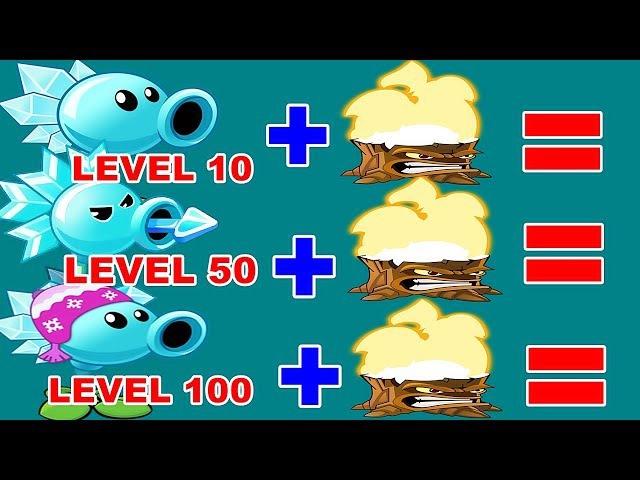 Snow Pea Pvz 2 Level 10-50-100 Vs Torchwood Pvz 2 in Plants vs. Zombies 2: Gameplay 2017