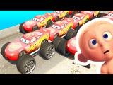 🚗 Mcqueen Monster Truck - Disney Cars Big Truck. Nursery Rhymes Songs - Videos for kids 2017