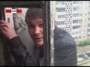 Бухой руский залез по балконам на 7 этаж и попросил закурить