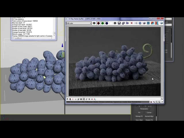 How to create procedural grape texture in 3ds Max and V-ray
