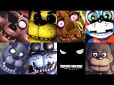 Five Nights at Freddys: ALL FNAF Animatronic Voices SFM Animations