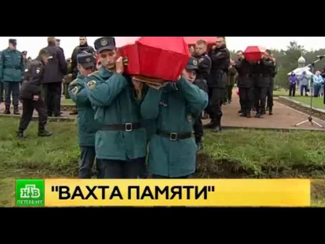 Павшим в боях за Ленинград красноармейцам отдали последние почести на Невском п...