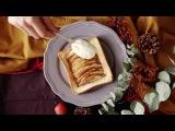 【しましま模様】ぎっしりリンゴのアップルパイ風トースト