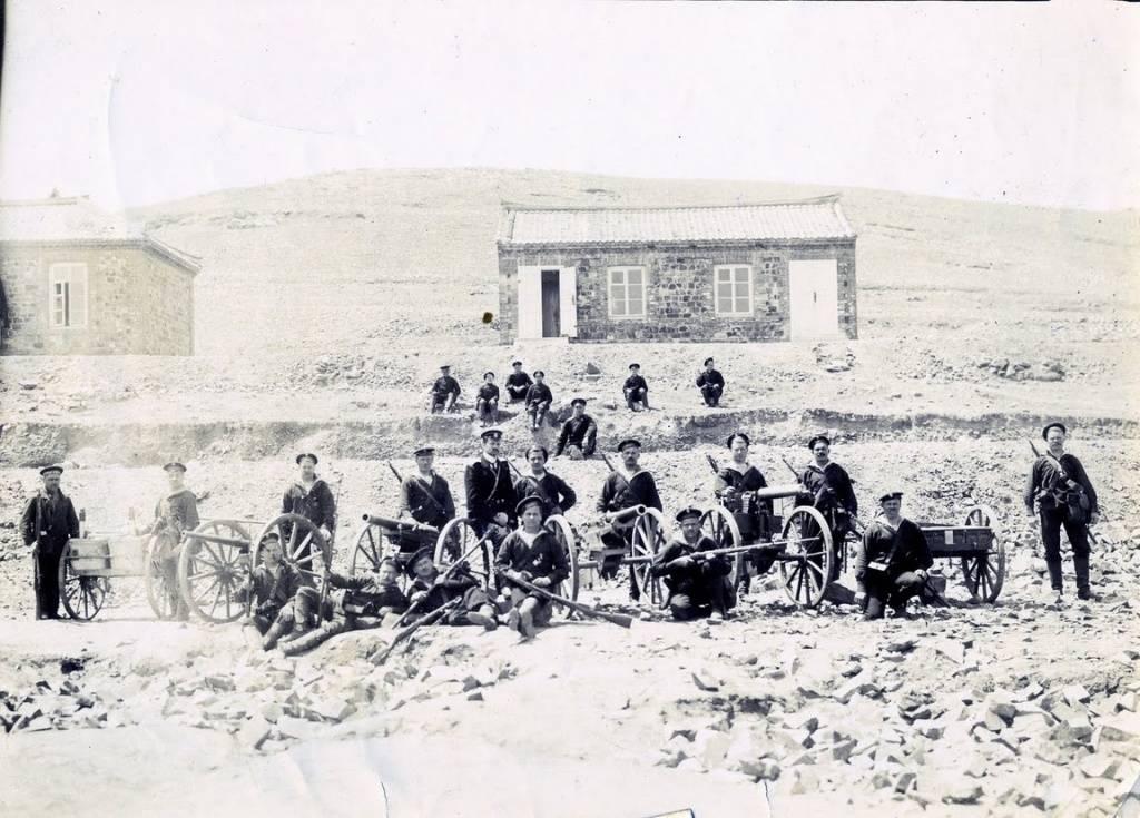 Русские моряки в Порт-Артуре.