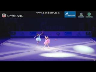 Дина и Арина Аверины - показательное выступление. Гран-При Москва 2017