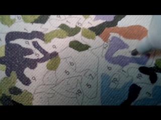 Раскраска по номерам: Коррекция номеров для светлой краски