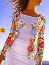 Яркий цветочный жакет