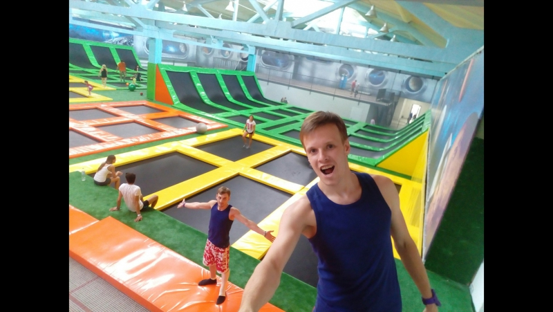 Jumping on the trampoline is high skill Bobov Valery