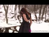 Charli Delu winter striptease