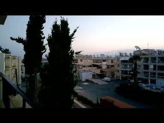 вид из отеля на Кипре в городе Пафос