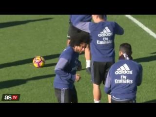 Роналду и Марсело продемонстрировали бойцовские качества на тренировке