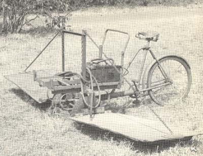 Родезийская машина поиска мин смонтированная на велосипеде.