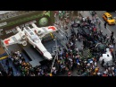 Giant Star Wars X-wing Lego model unveiled in New York Lego City