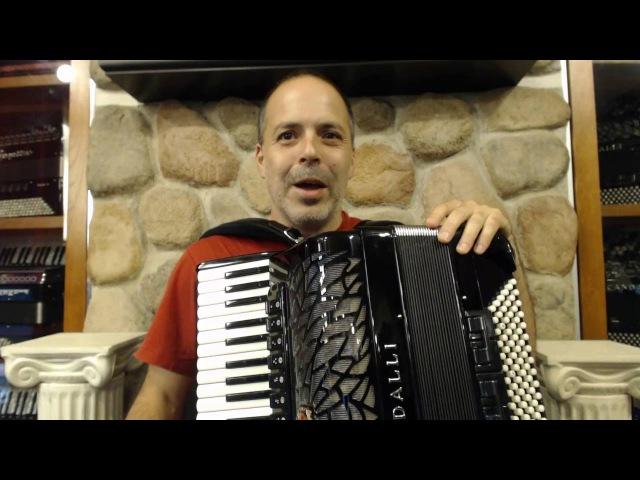 How to Play Brazilian Baião Music on Piano Accordion - Lesson 1 - Baião Groove