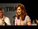 Cristina en homenaje a detenidos desaparecidos de colectividades árabe y judía