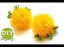 DIY Chrysanthemums kanzashi Kanzashi flower tutorial Scrunchy Organza Flower