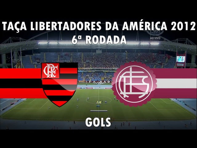 Flamengo 3x0 Lanús - Gols - Taça Libertadores da América 2012 - 12/04/2012