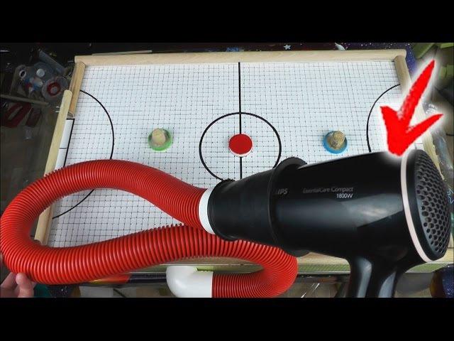 DIY. MINI АЭРОХОКЕЙ ИЗ ФЕНА/ How to Make Mini Air hockey