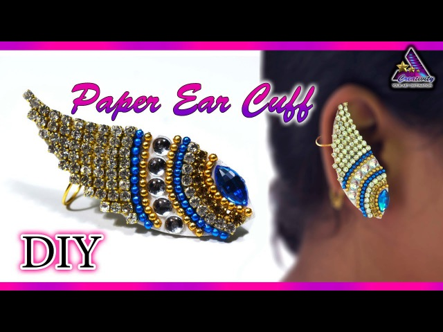 DIY : Paper Ear Cuff | Earring | Paper Jewelry | Art with Creativity 256