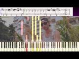 Малиновый рассвет - Эндшпиль (Ноты и Видеоурок для фортепиано) (piano cover)