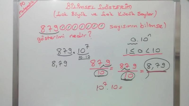8. Sınıf Bilimsel Gösterim Konu Anlatımı (TEOG 1. SINAV)