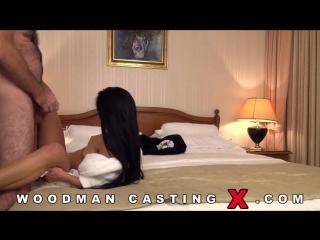 Кастинг Вудмана Два члена для брюнетки Woodman casting x DP foe sexy brunette
