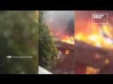 В Ростове-на-Дону горит множество жилых домов