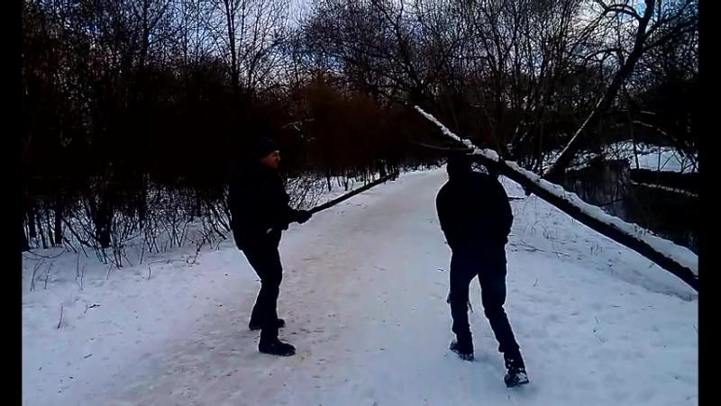 Жестокая борьба на палках, Даня vs Санёк.