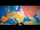 Изменение границ Европы за последнее тысячелетие. Интерактивная карта стран