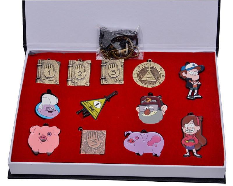 Подарочный набор брелков и кулонов Gravity Falls