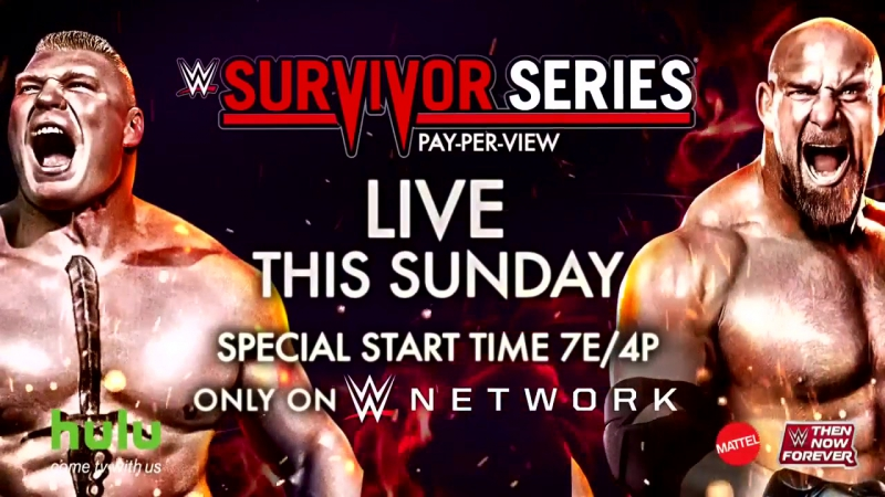 WWE Survivor Series 2016 Brock Lesnar vs Goldberg Promo