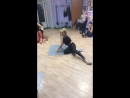 Тренировка exotic pole dance.