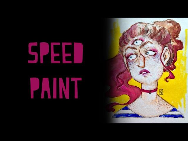 CatCore: Трехглазая девчуля - спидпейнт - speedpaint - Pink Haired Girl