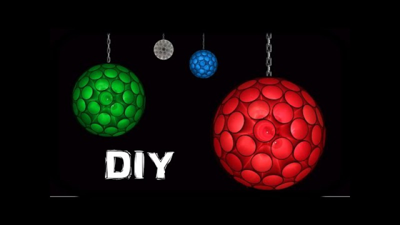 How To Make Ceiling Hanging Sparkle Ball With Drinking Glasses And LED lights