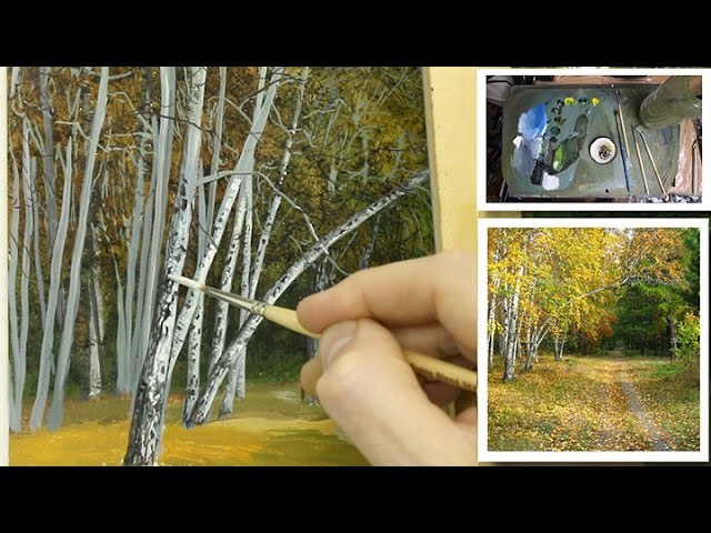 68 How To Paint Silver Birch Trees Part 1 | Oil Painting Tutorial