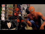 DEADPOOL vs BATMAN - REACTION SPANDEX - with SPIDER-MAN and DEADPOOL