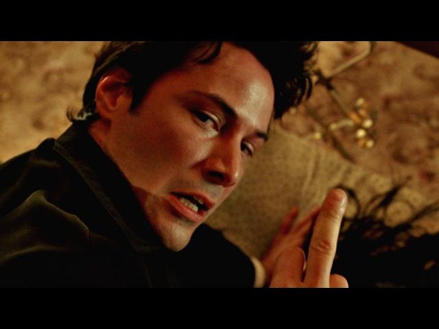 Обряд экзорцизма. Сцена с зеркалом. Константин: Повелитель тьмы. 2005