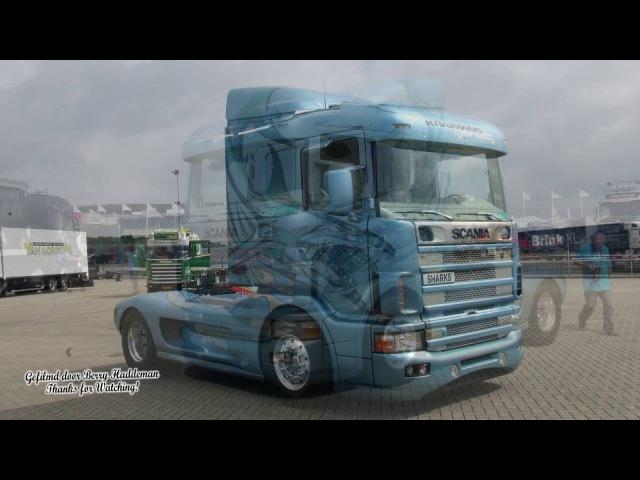 Scania V8 Loud sound - Kraimans Show truck Shark - Truckstar Festival 2016 TT Assen