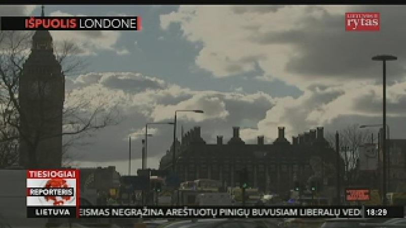 Londone įvykdytas teroristinis išpuolis, užpuolikas nušautas