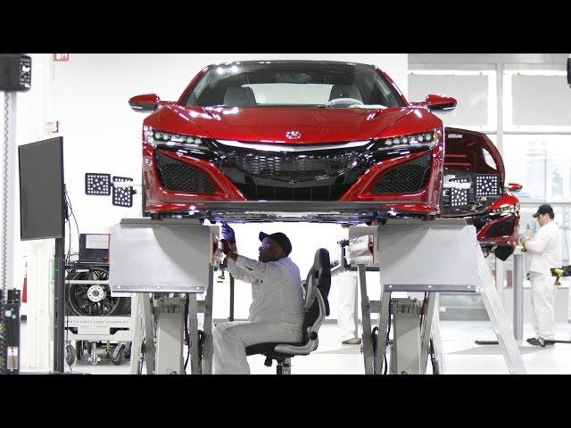 2017 Acura NSX PRODUCTION | Acura reveals NSX production secrets