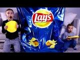 Гигантская упаковка чипсов LAYS!!! Giant chips!!! BAD BABY