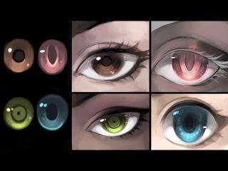 How I draw eyes/skin - Patreon reward March 2017