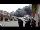 Пожар на рынке Ирчи Казака 31.03.2017