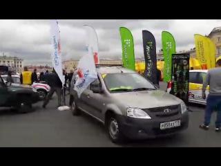 Начало монокубка LADA Rally Cup 2017 на Дворцовой площади