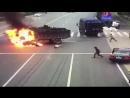 Огненное шоу на дорогах Китая