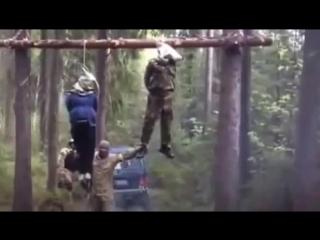Казнь ополченца и его беременной жены предположительно батальоном «Донбасс»