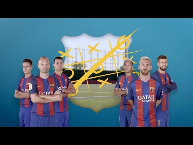 Tic-tac-toe: Messi, Piqué Neymar vs Iniesta, Sergio Denis