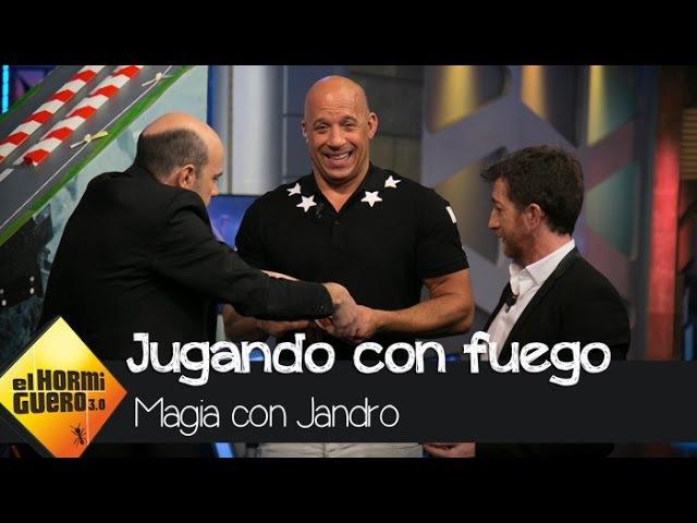 Jandro 'prende fuego' a su magia con vin Diesel como testigo - El Hormiguero 3.0