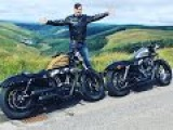 Harley Davidson Crazy Sportster Riding in Wales