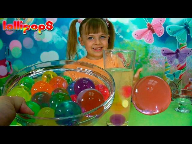 Детские опыты и эксперименты/Шарики орбиз/Эксперимент с шарами орбиз